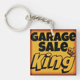 Garage Sale King Mens Keychain