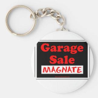 Garage Sale Magnate Basic Round Button Key Ring