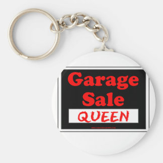 Garage Sale Queen Basic Round Button Key Ring