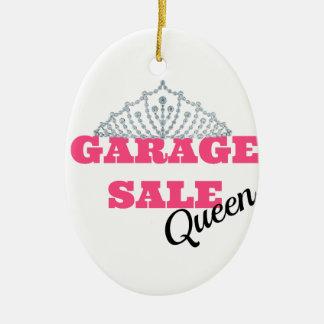 Garage Sale Queen Line Ceramic Oval Decoration