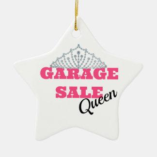 Garage Sale Queen Line Ceramic Star Decoration