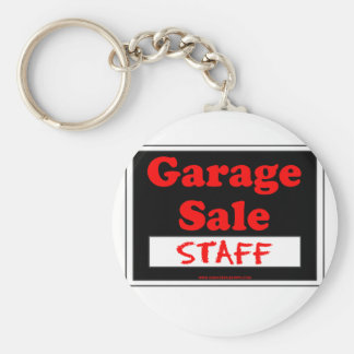 Garage Sale Staff Basic Round Button Key Ring
