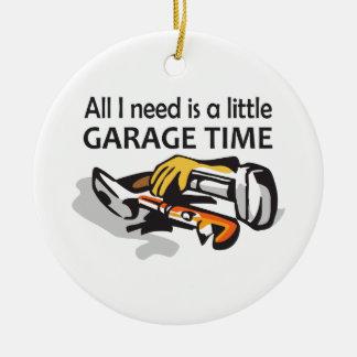 GARAGE TIME ROUND CERAMIC DECORATION