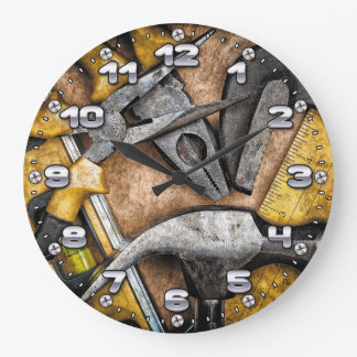 Garage Tools Man Cave Wall Clock