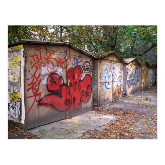 Garages Berlin Prenzlauer Berg Postcard