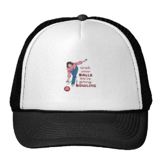 Garb Your Balls We're Going Bowling Trucker Hats