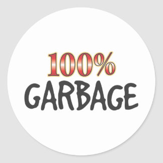 Garbage 100 Percent Classic Round Sticker