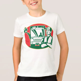 Garbage Collector and Side Loader Rubbish Truck T-Shirt