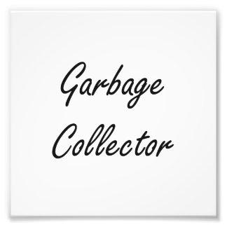 Garbage Collector Artistic Job Design Photograph