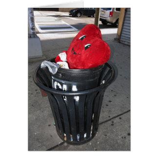 Garbage Heart Anti-Valentine Greeting Card