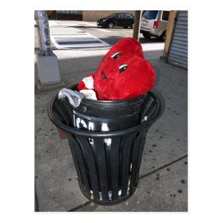 Garbage Heart Anti-Valentine Postcard