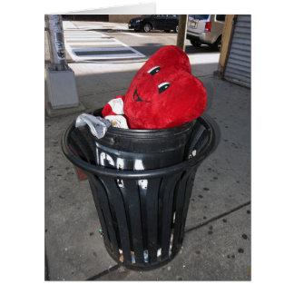 Garbage Heart BIG Anti-Valentine Big Greeting Card