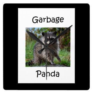Garbage Panda Square Wall Clock