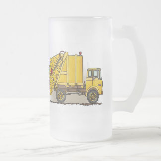 Garbage Truck 2 Construction Glass Mug