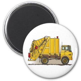 Garbage Truck 2 Construction Round Magnet