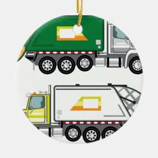 Garbage Truck Christmas Ornament