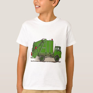 Garbage Truck Green Kids T-Shirt