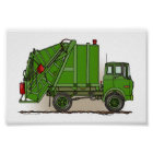 Garbage Truck Green Poster