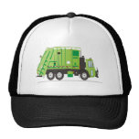 Garbage Truck Green Trucker Hats