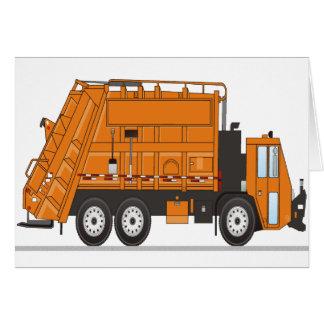 Garbage Truck Greeting Card