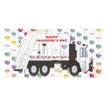 Garbage Truck Valentines Photo Card