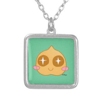 Garbanzo kawaii square pendant necklace