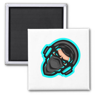 Garbo The Gamer Square (Diamond) Button Magnet