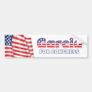 Garcia for Congress Patriotic American Flag Design Bumper Sticker
