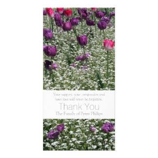 Garden 1- Tulips - Sympathy Thank You Photo Card 3