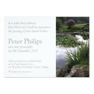 Garden 2- Peaceful Pond - Funeral Announcement