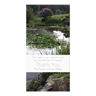 Garden 2 Peaceful Pond Sympathy Thank You 3 Card
