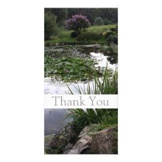 Garden 2 - Peaceful Pond - Thank You Photo Card -1