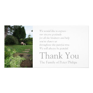 Garden 4 Armchair Sympathy Thank You 2 Card