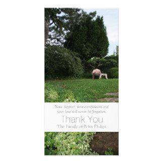 Garden 4 - Armchair - Sympathy Thank You -3 Photo Greeting Card