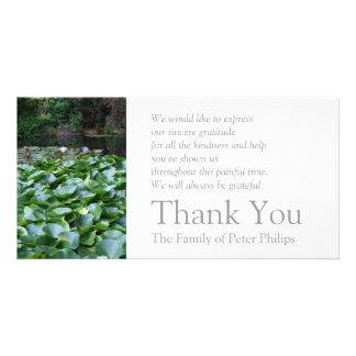Garden 5 Lotus Sympathy Thank You 2 Picture Card