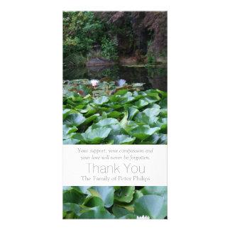 Garden 5 Lotus Sympathy Thank You 3 Photo Cards