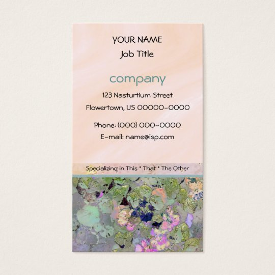 Garden and Pink Business Card