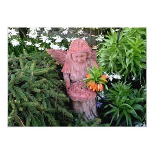 Garden Angel 13 Cm X 18 Cm Invitation Card