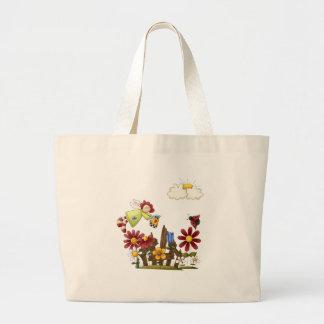 Garden angel large tote bag