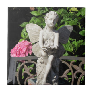 Garden Angel Small Square Tile