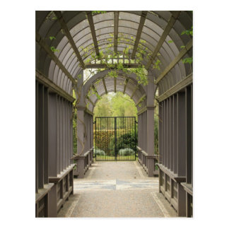 Garden arbor postcard