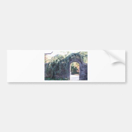 Garden archway bumper stickers