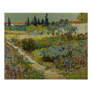 Garden at Arles (1888) by Van Gogh Poster