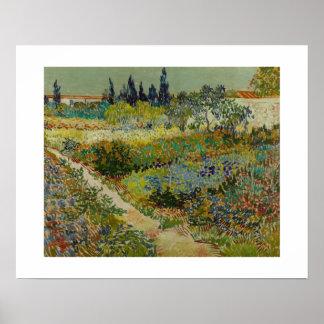 Garden at Arles (1888) by Van Gogh Poster