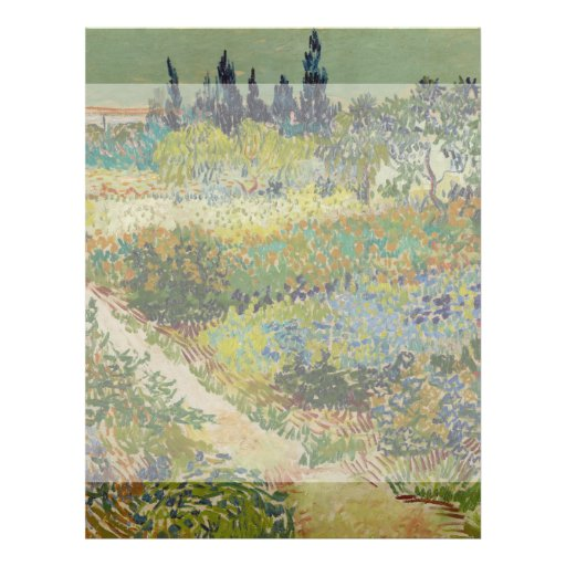 Garden at Arles by Vincent Van Gogh Personalized Flyer