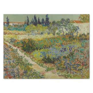 Garden at Arles by Vincent Van Gogh Tissue Paper