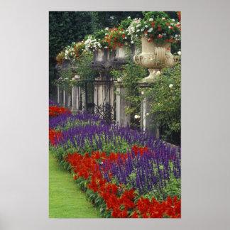 Garden at Mirabell Palace, Salzburg, Austria Poster