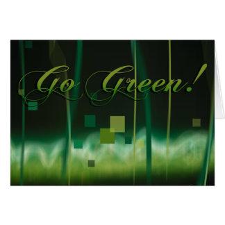Garden at Night go green Card