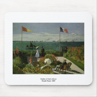 Garden at Saint Adresse by Claude Monet Mouse Mat