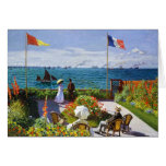 Garden at Sainte-Adresse, 1867 Claude Monet Note Card